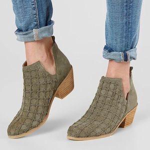 Mi.iM Lavin Gray Basket Weave Ankle Cutout Booties
